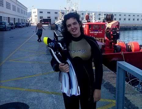 Una de las aficiones de Xiana Rodríguez Olivares es el buceo, que practica con el Club Cíes.