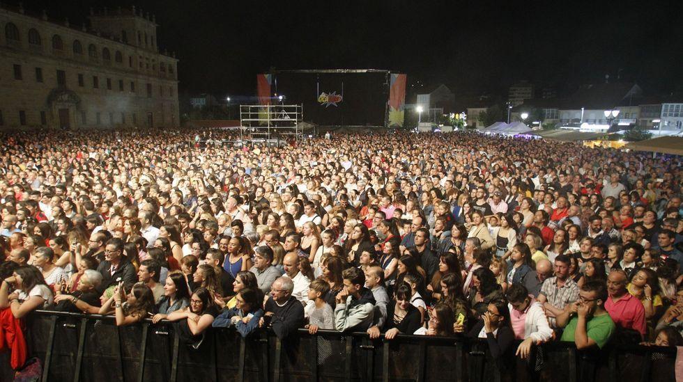 Aspecto de la explanada en el concierto de Blas Cantó que puso fin a las fiestas del 2019