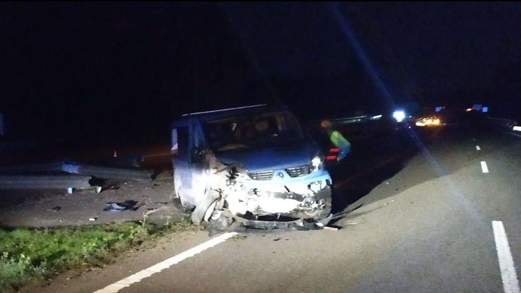 La furgoneta que originó el accidente múltiple