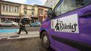 La mayoría de los taxis de Becerreá ya lucen el logotipo del itinerario Vía Künig