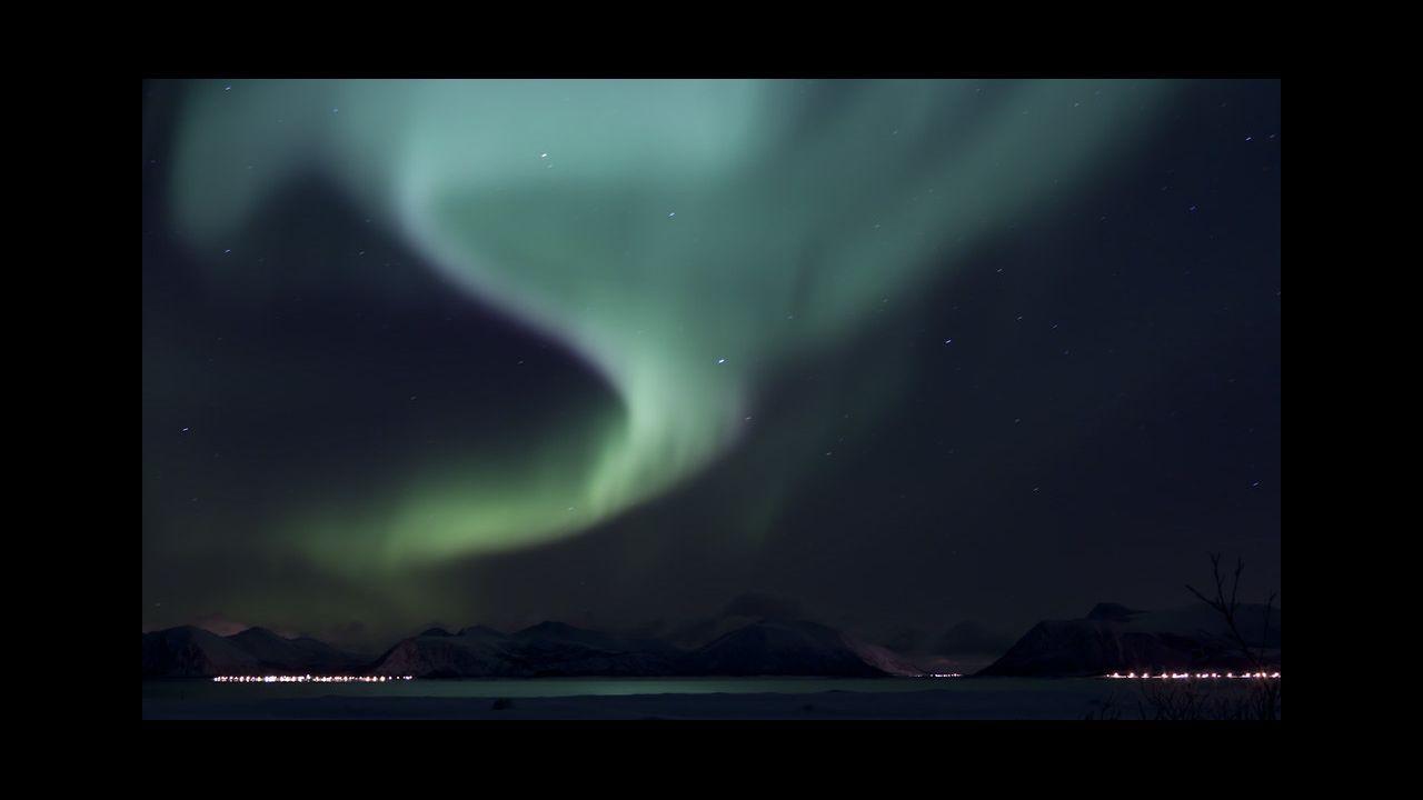 Una aurora boreal adquiere este color verde cuando la proporción de oxígeno en la atmósfera es mayor de lo normal