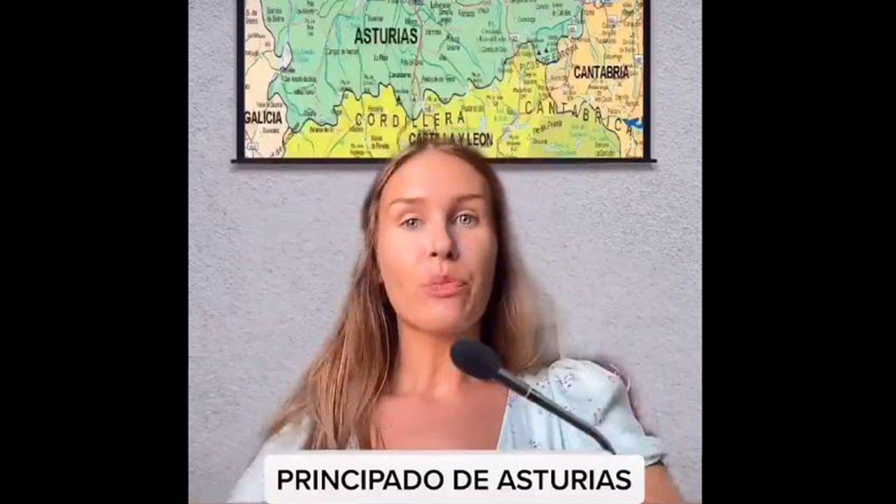Bianka Randell en uno de sus videos de TikTok
