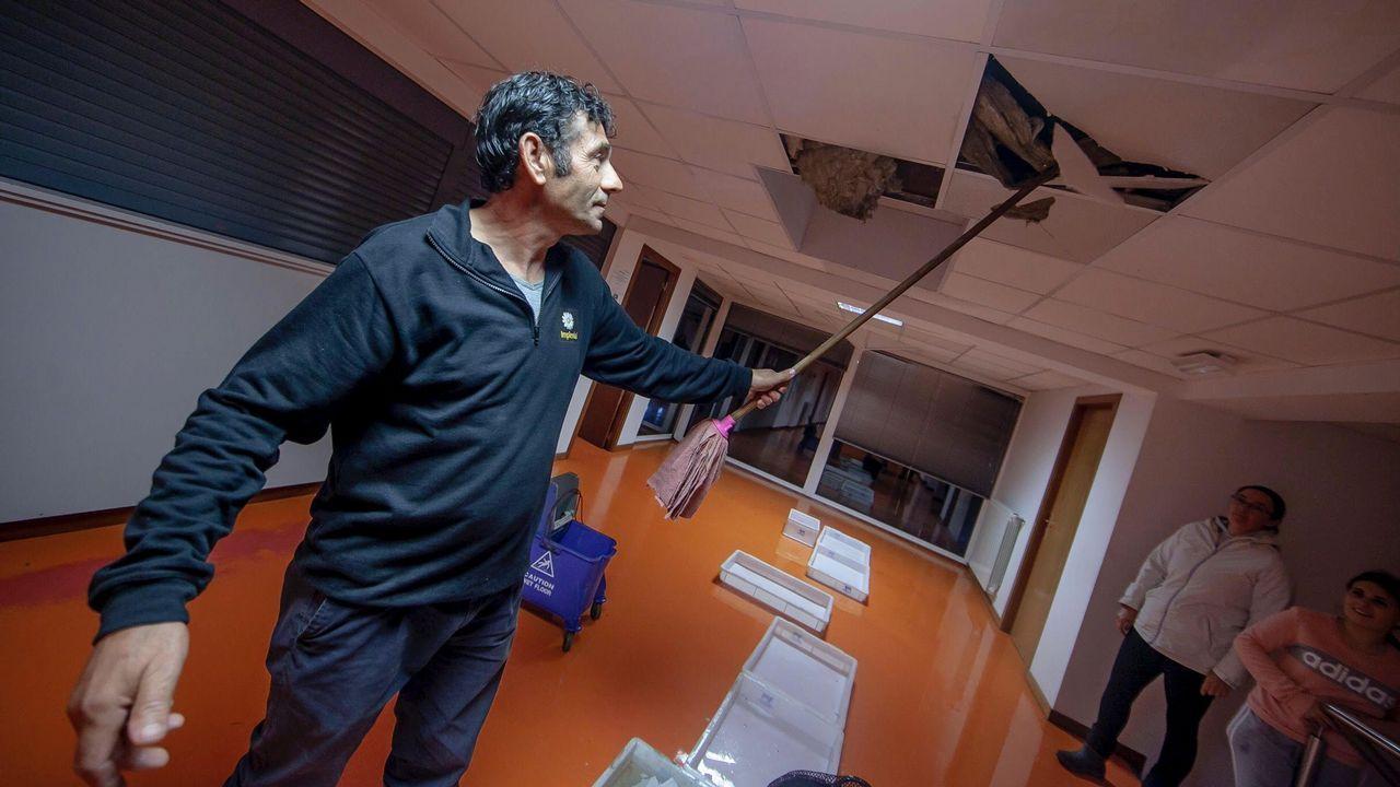 Los efectos del temporal en Galicia, en imágenes.El río Anllóns se desbordó a su paso por Carballo