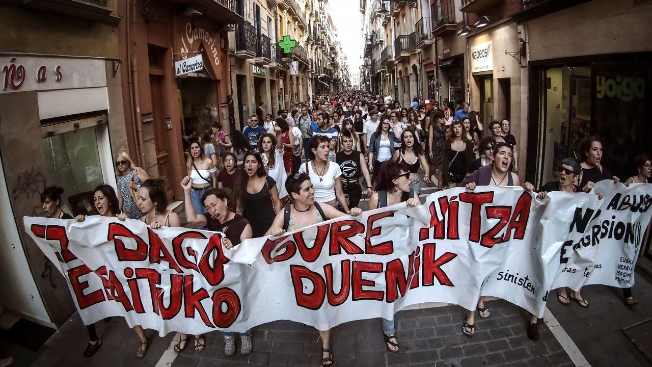 Concentración en Pamplona contra el auto que decreta la libertad provisional de La Manada