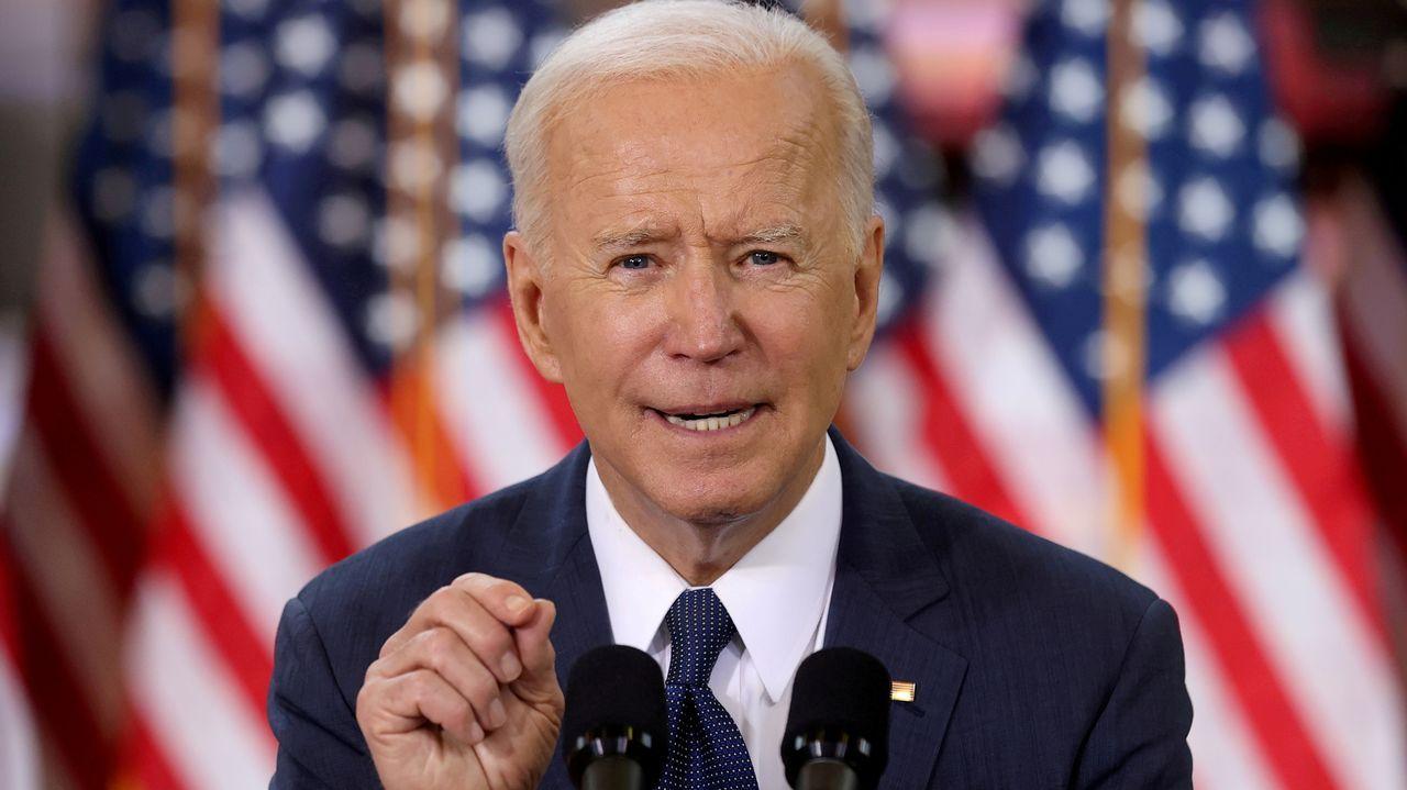 Joe Biden, durante su discurso tras los primeros 100 días como presidente de EE.UU.