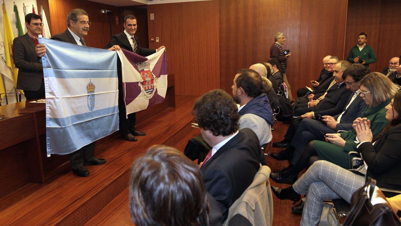 Los primeros que tienen que dar ejemplo.Juan Manjuel Diz Guedes, cuando se presentó como candidato por Cs para la alcaldía de Tui, hace un año