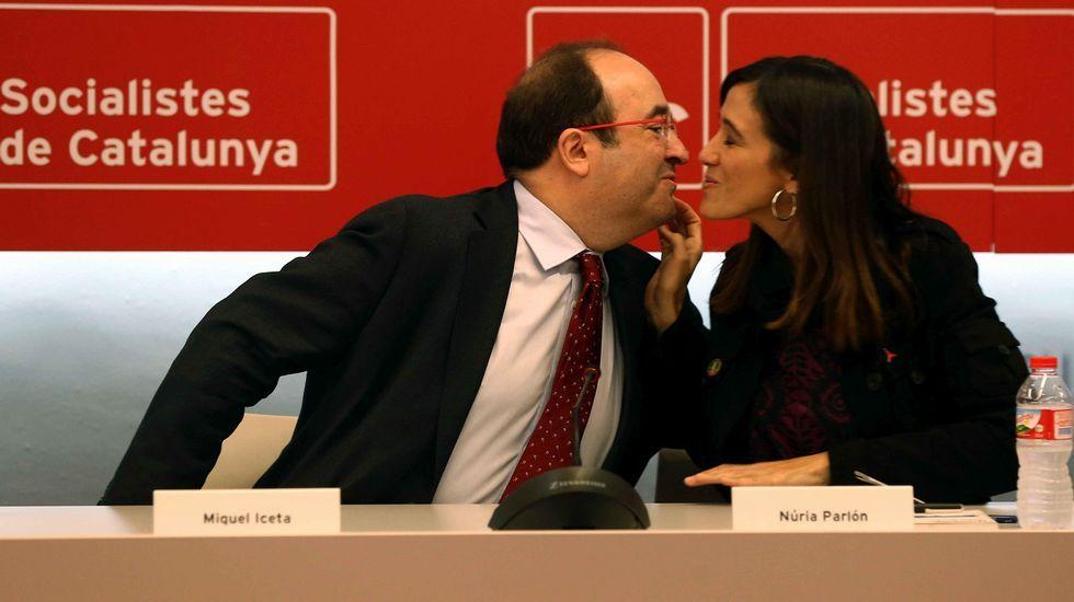 Iceta y Parlón, este lunes en Barcelona