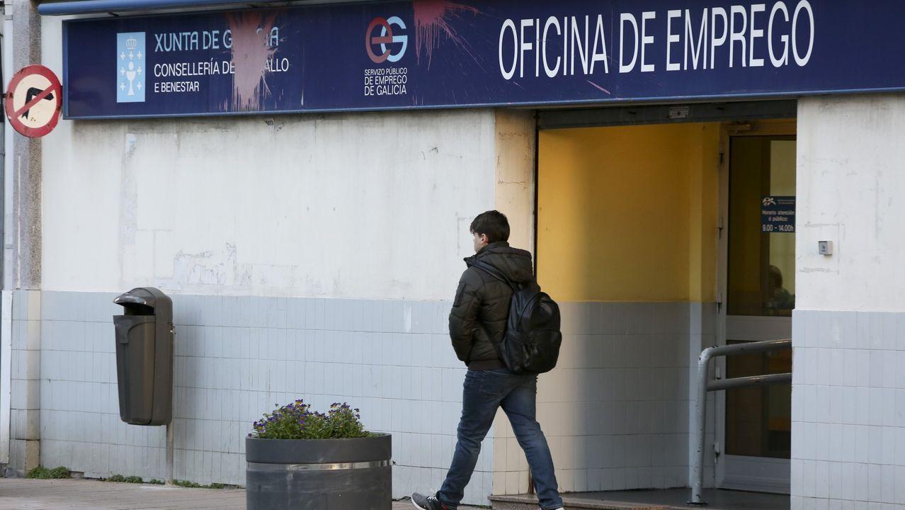 Una oficina de empleo en Ferrol