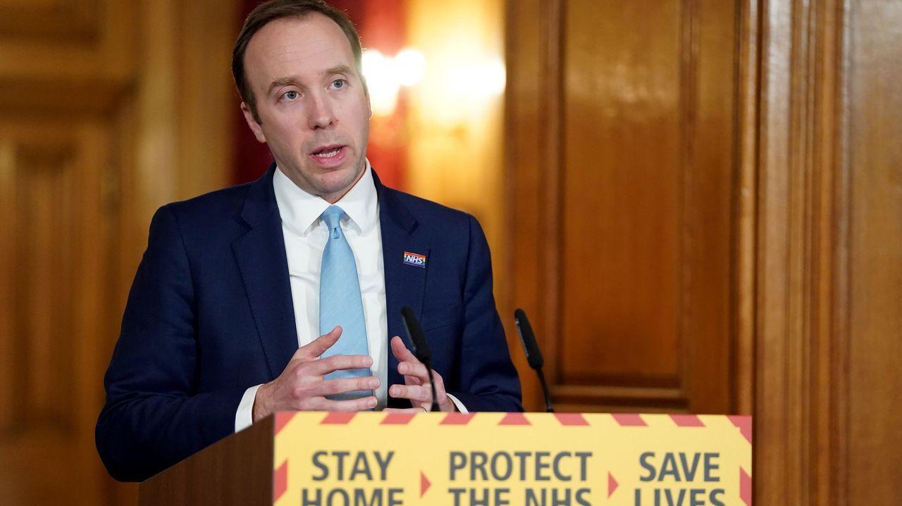 El ministro de Salud británico, Matt Hancock,anunció un fondo adicional para sanidad de 15.304 millones de euros
