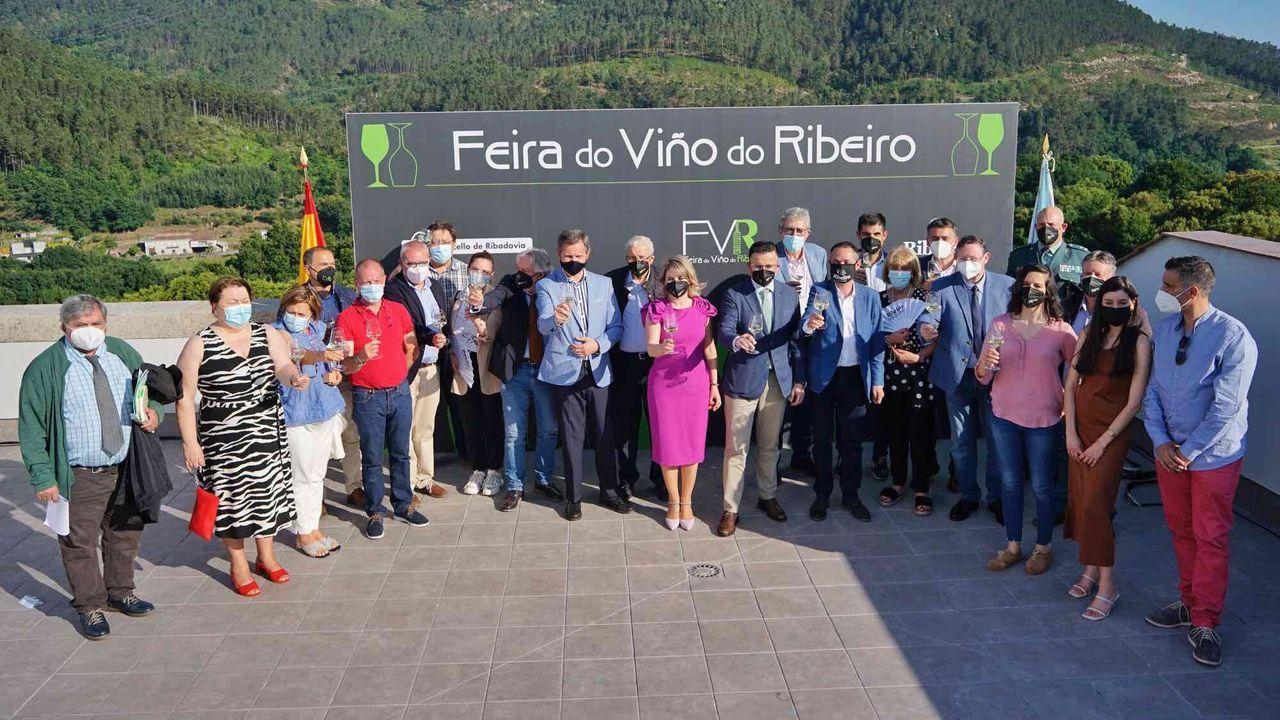 Clausura de la Feira do Viño do Ribeiro.Detalle da rodaxe do filme de Zarauza «Malencolía».