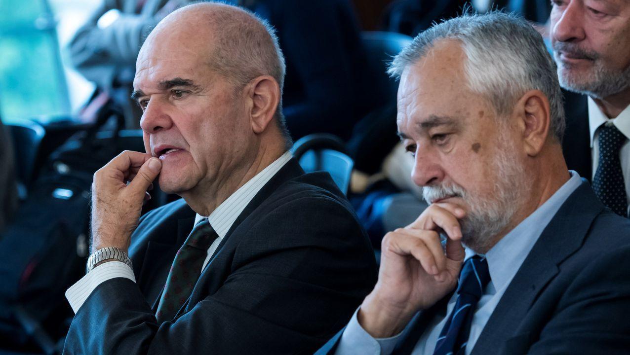 Las penas del caso de los ERE, una a una.Manuel Chaves y José Antonio Griñán, durante una de las sesiones del juicio