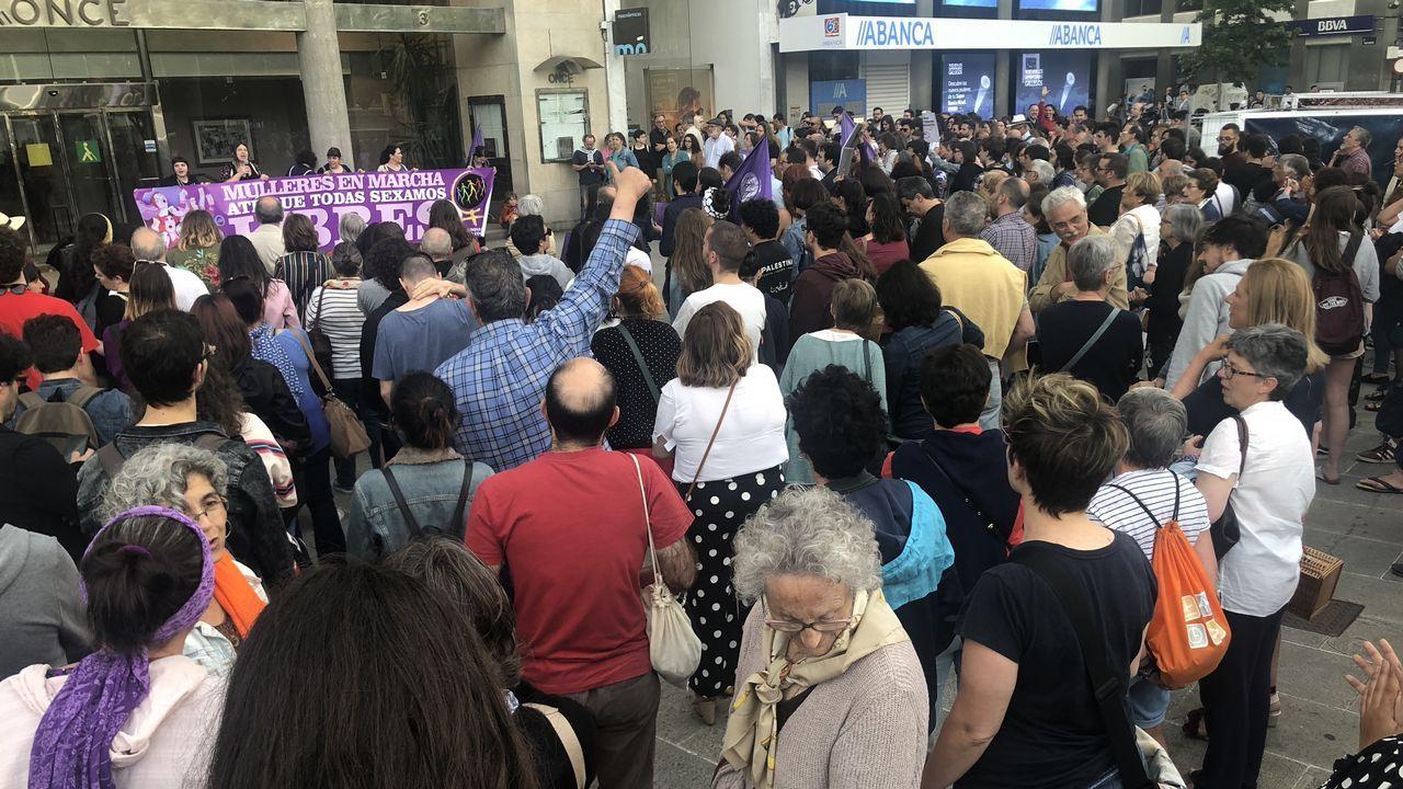 Manifestación en A Coruña contra la libertad provisional de La Manada