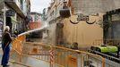 Derribo del edificio de la calle Lisa, en Verín, en febrero del año 2017