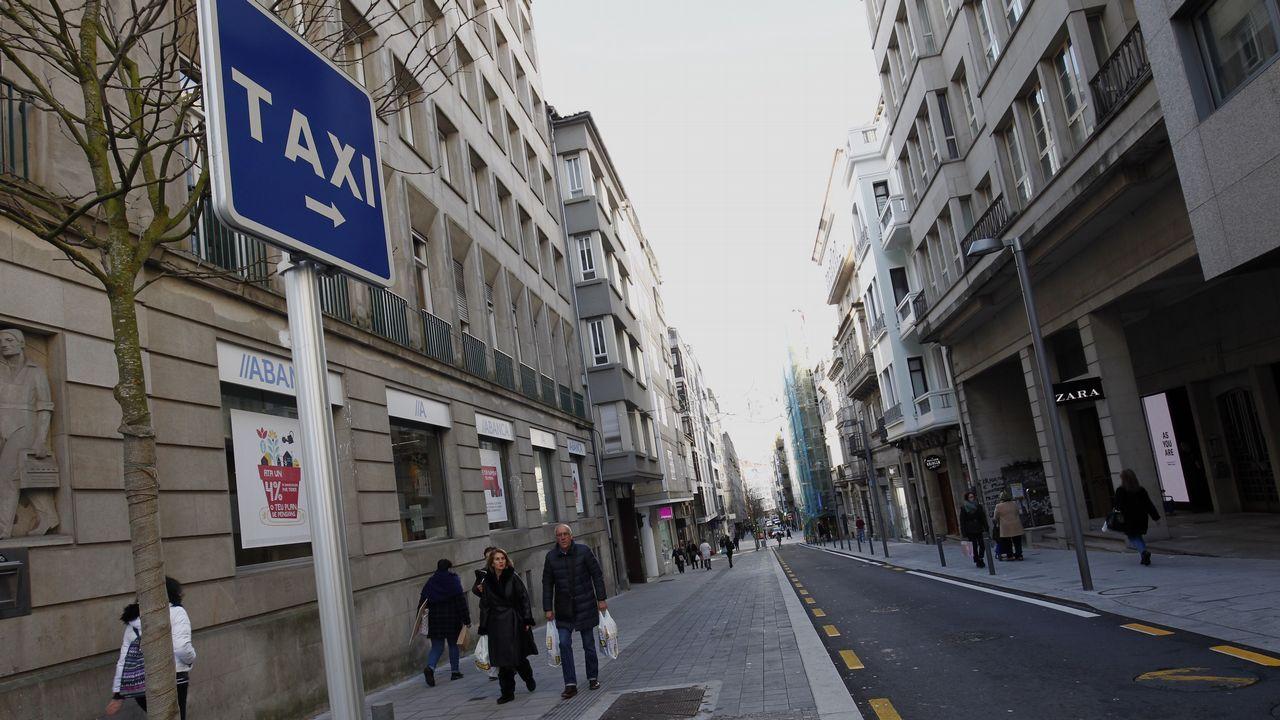 La huelga de taxistas deja huella en Santiago