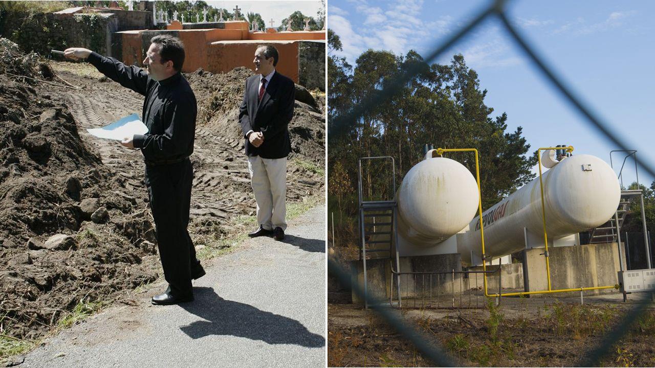 En el 2007 se inauguró la obra; A la derecha, imagen de los dos depósitos ubicados junto al camposanto