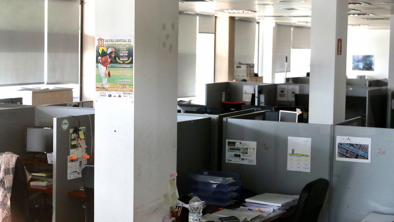 Vista del interior de las oficinas de la sede de Zaragoza