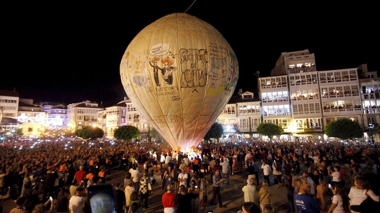 La tradición del globo, en San Roque 2019.ROMERÍA DE NASEIRO