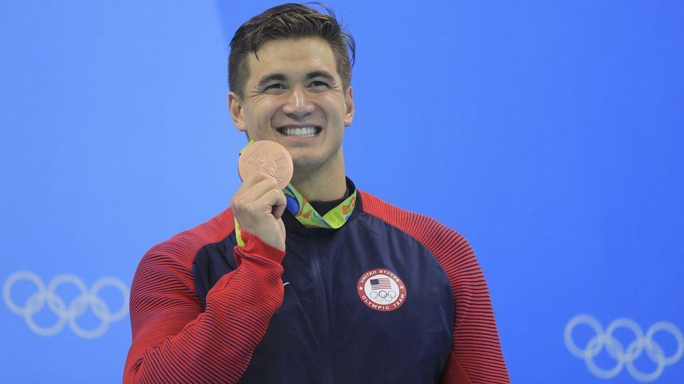 El nadador estadounidense Nathan Adrian se lleva oro en relevo 4x100 combinado y libre, y bronce en 50 y 100 metros libre