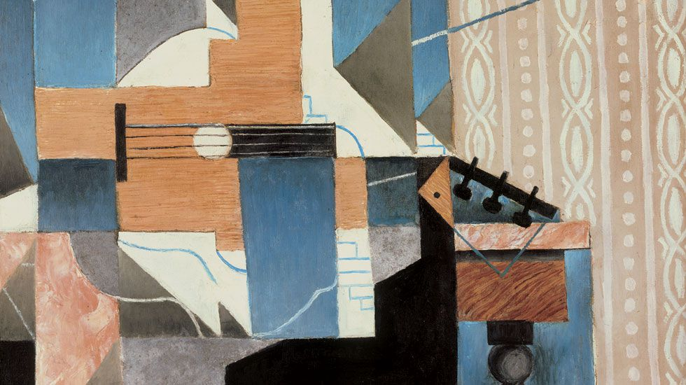 Laboral banner 2.Juan Gris, «La guitare sur la table» (1913)