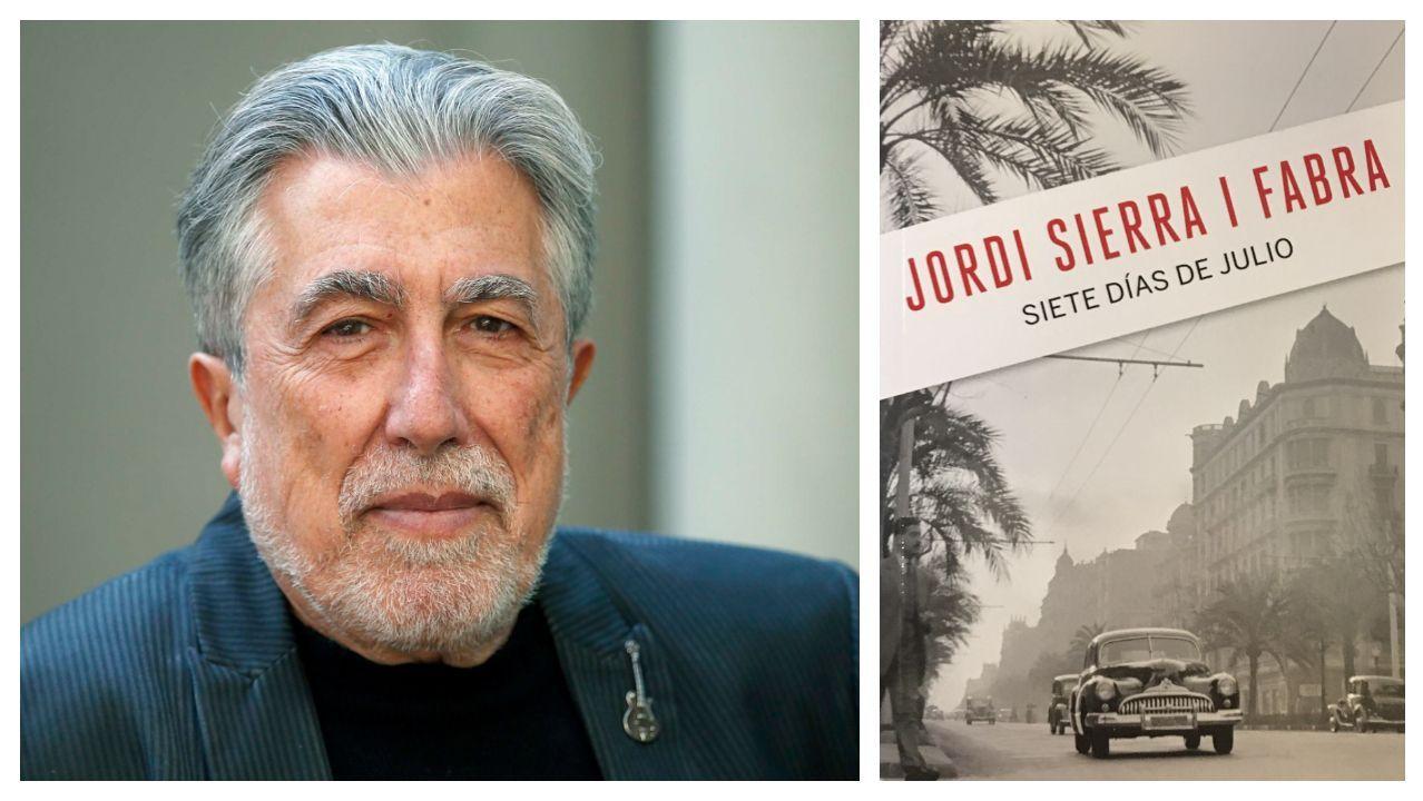 El escritor Jordi Serra i Fabra es el autor del libro «Siete días de julio», que cierra la colección de intriga de La Voz
