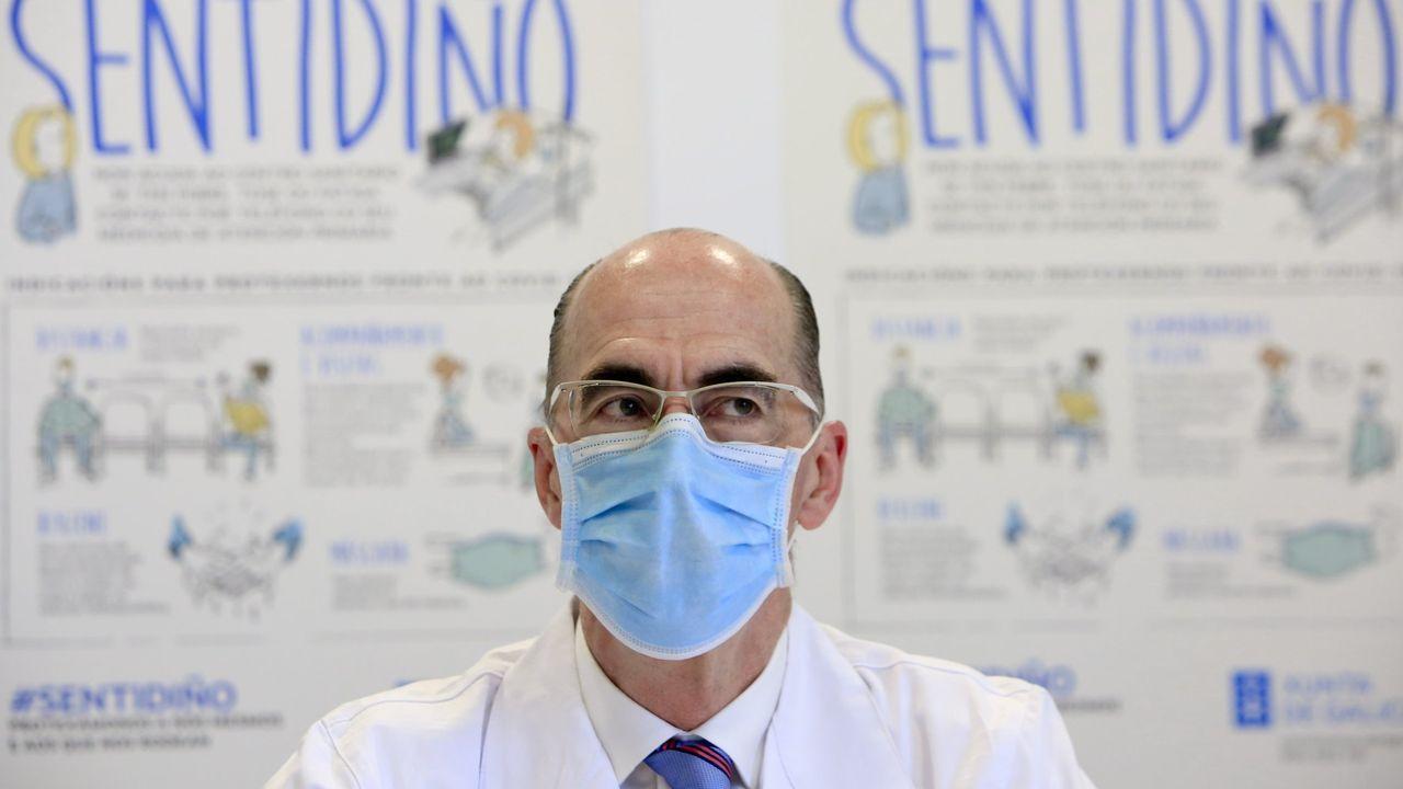 El conselleiro de Sanidade, Jesús Vázquez Almuiña