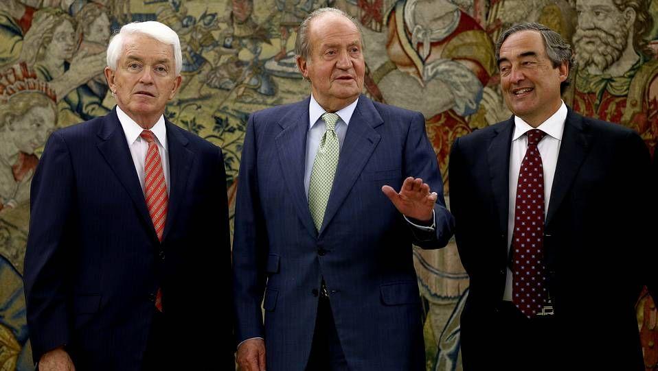 El rey Juan Carlos en su primer acto oficial después de anunciar su decisión de abdicar en su hijo Felipe.