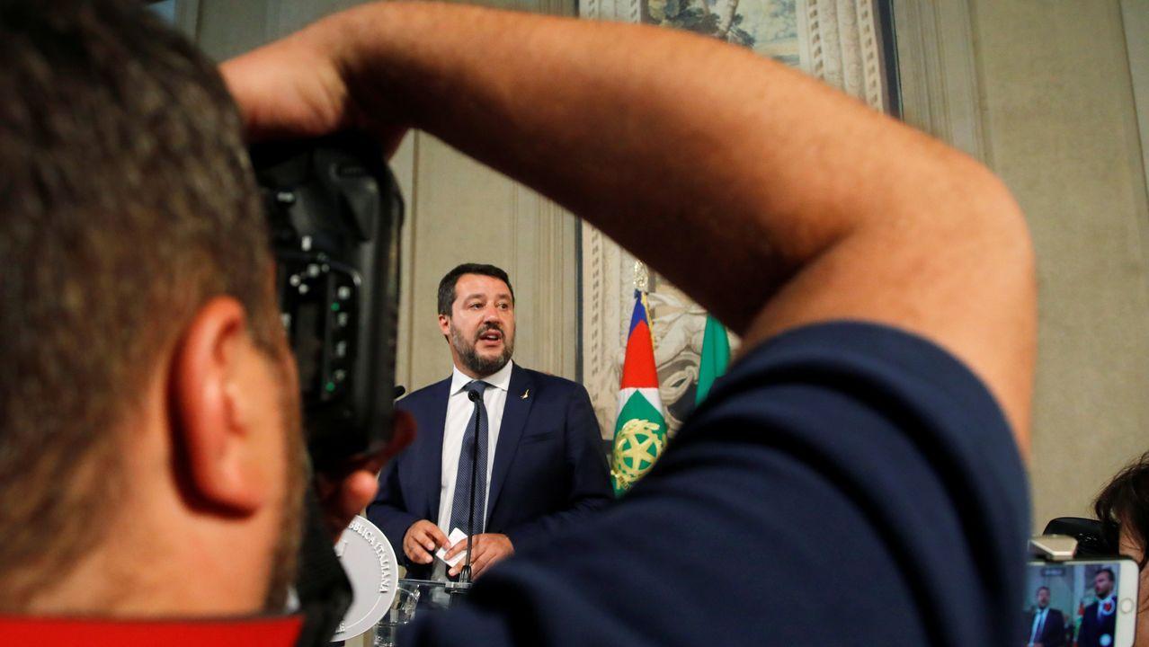 Salvini sigue cayendo en las encuestas desde el inicio de la crisis