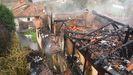 Incendio en una vivienda en Las Segadas, Oviedo