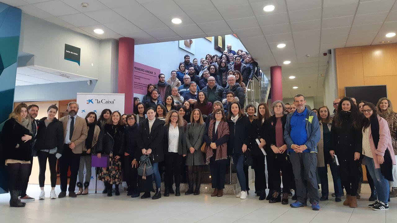 Ala cto acudieron representantes de la Fundación  La Caixa  y Caixabank, y miembros de entidades sociales