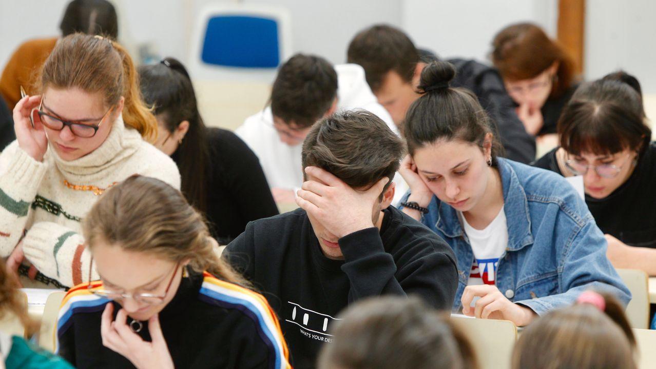 Prueba de Ebau en la Facultade de Ciencias Sociais de Pontevedra