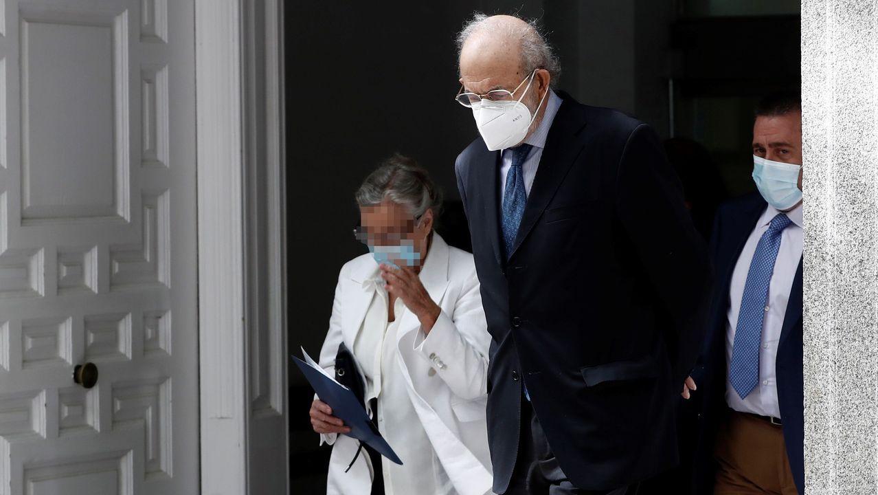 El magistrado del Tribunal Constitucional Fernando Valdés, investigado por maltrato a su mujer, fotografiado a su salida del Tribunal Supremo