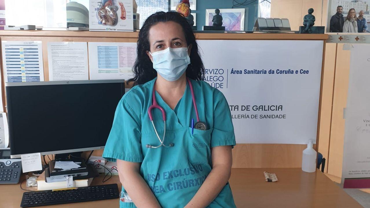 Susana Rivera García, internista del Chuac