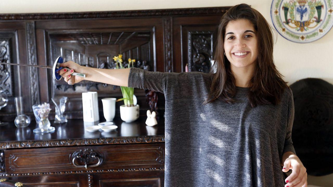 María Mariño. Una de las mejores esgrimistas de España, ocupa el 79º puesto en el ránking mundial de florete.