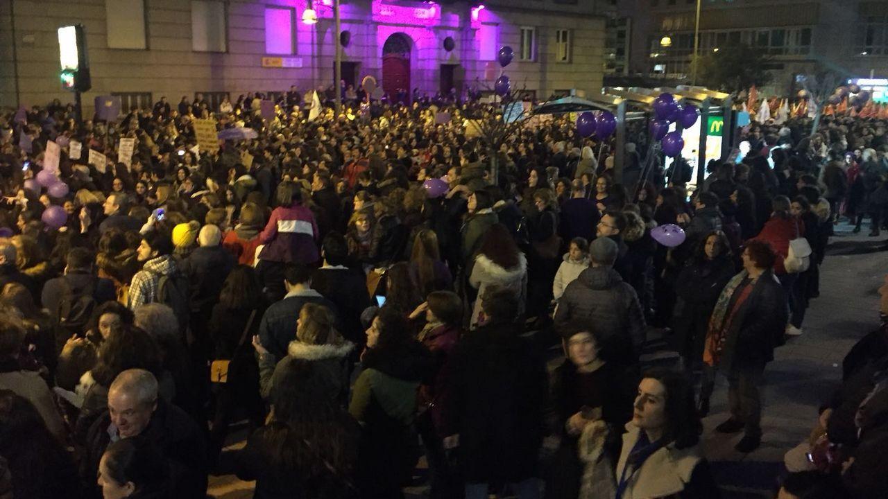 Marcha del 8-M en las calles de Ourense