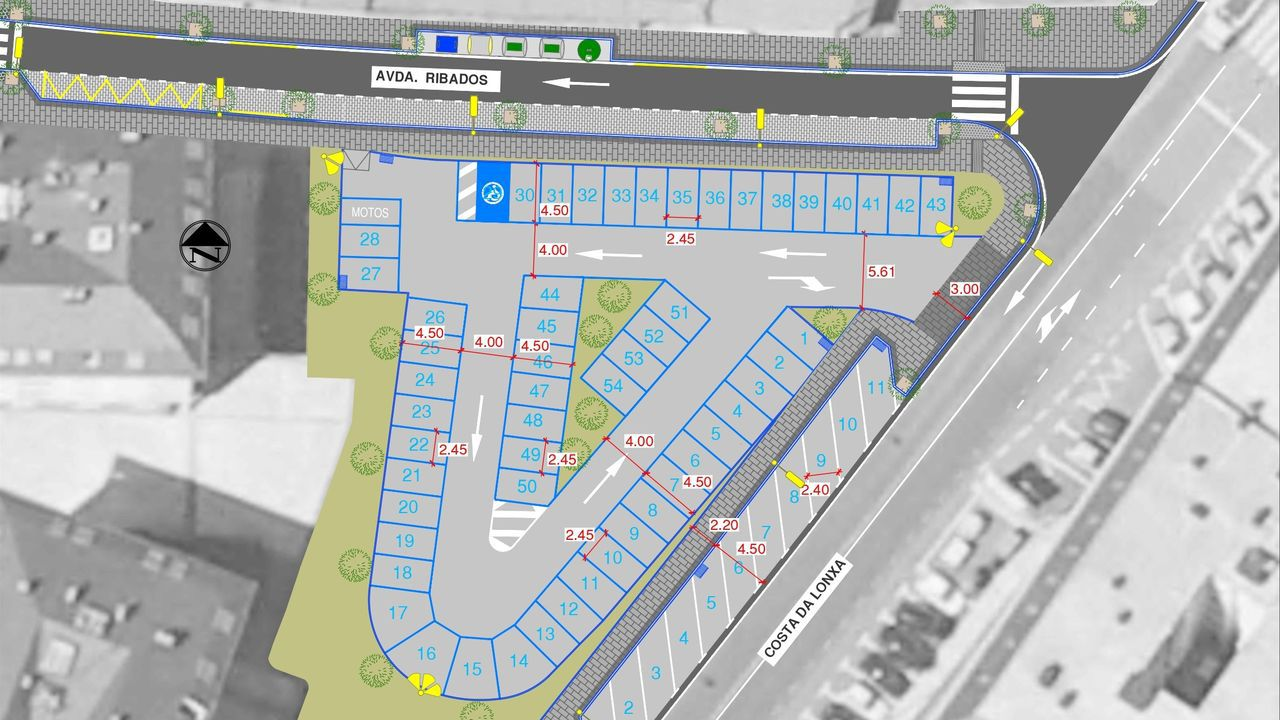 Parcela sobre la que se crearán dos de las zonas de aparcamiento previstas.