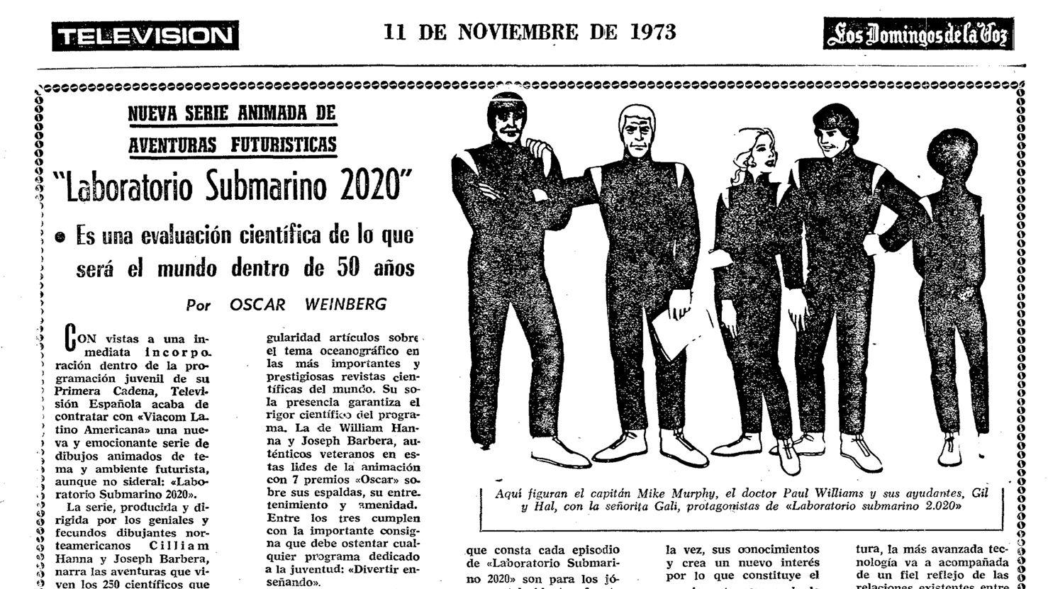 Publicación del 11 de noviembre de 1973