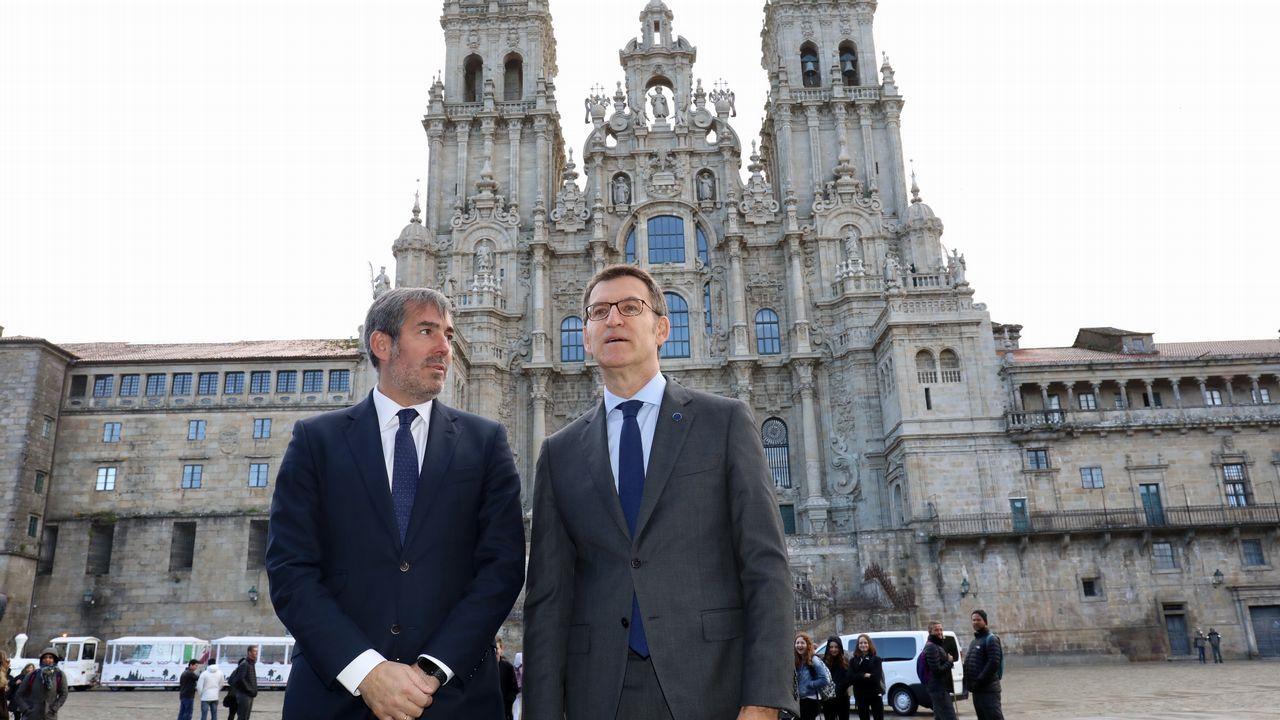CIS Aixiña: Entidades sociais de Ourense deseñan unha X humana..Feijoo recibió hoy a Clavijo