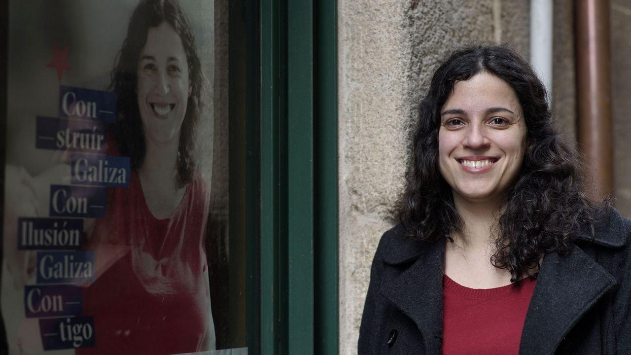 Las imágenes del 8M en Galicia.La diputada del BNG Noa Presas fue una de las identificadas por la policía