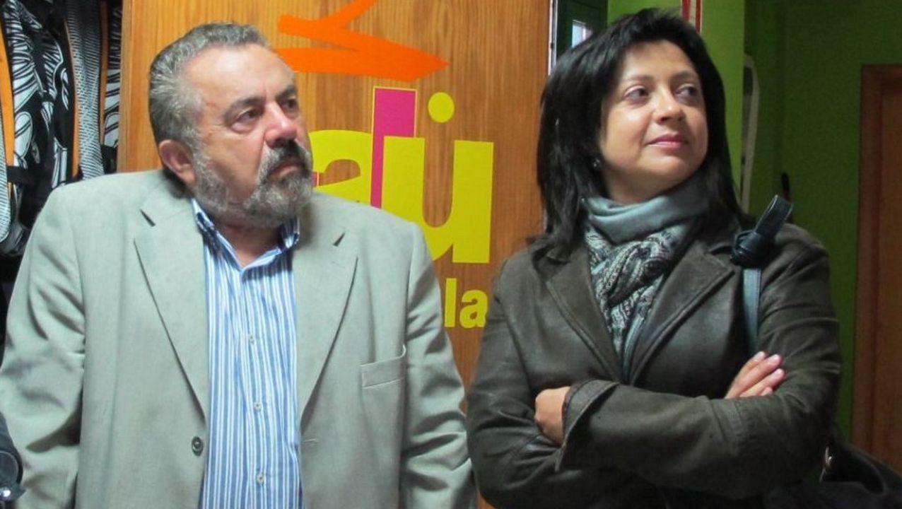 Foto de archivo de José Oreiro y Marisol Piñeiro cuando formaban parte del gobierno de Carnota