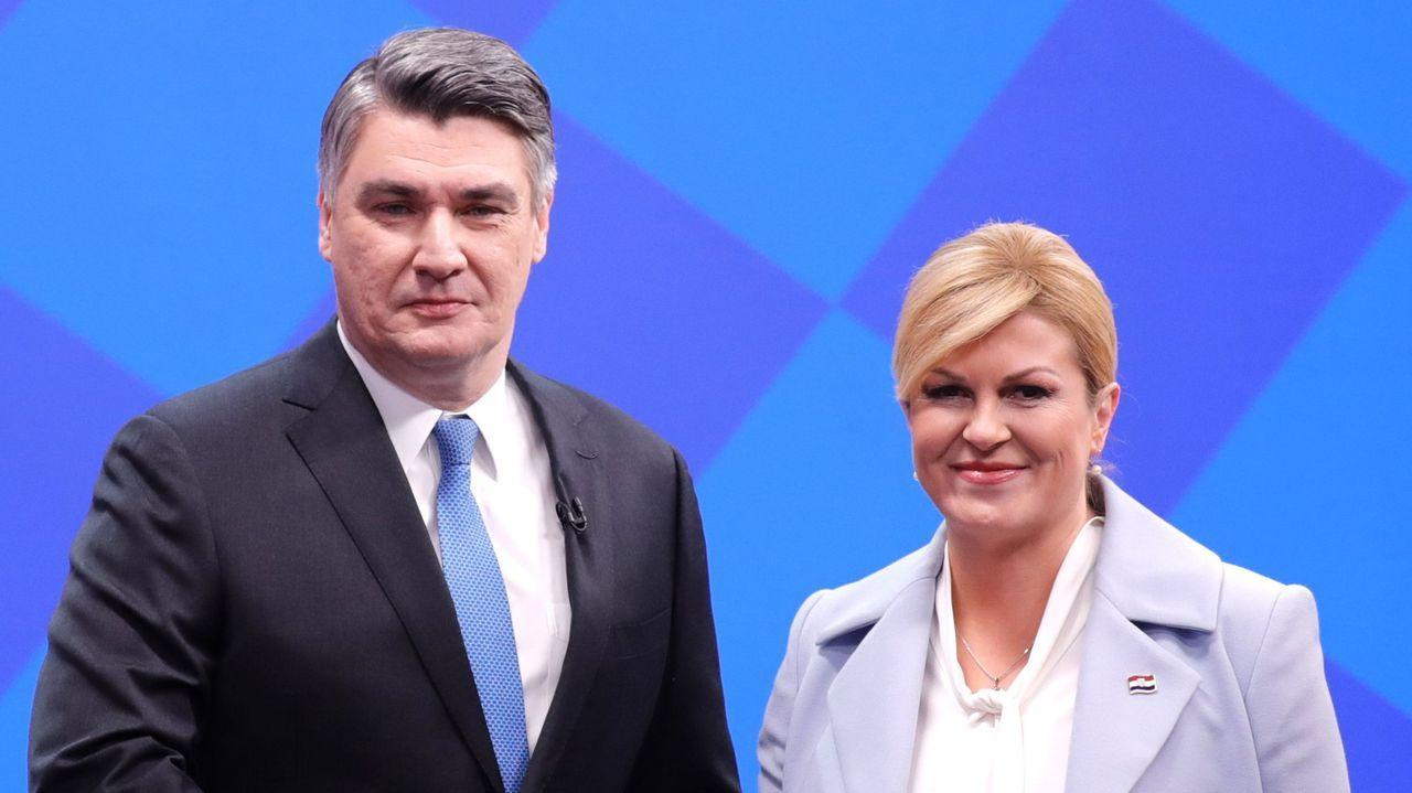 Zoran Milanovic y Kolinda Grabar-Kitarovic