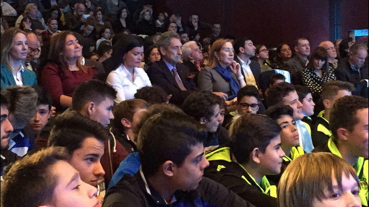 Acto de presentación de la futura ciudad deportiva del Celta en Mos