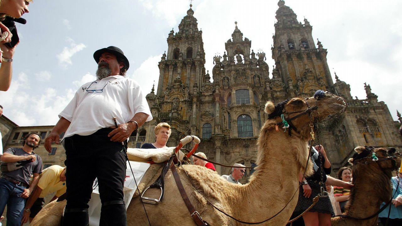 Viajeros en Lavacolla