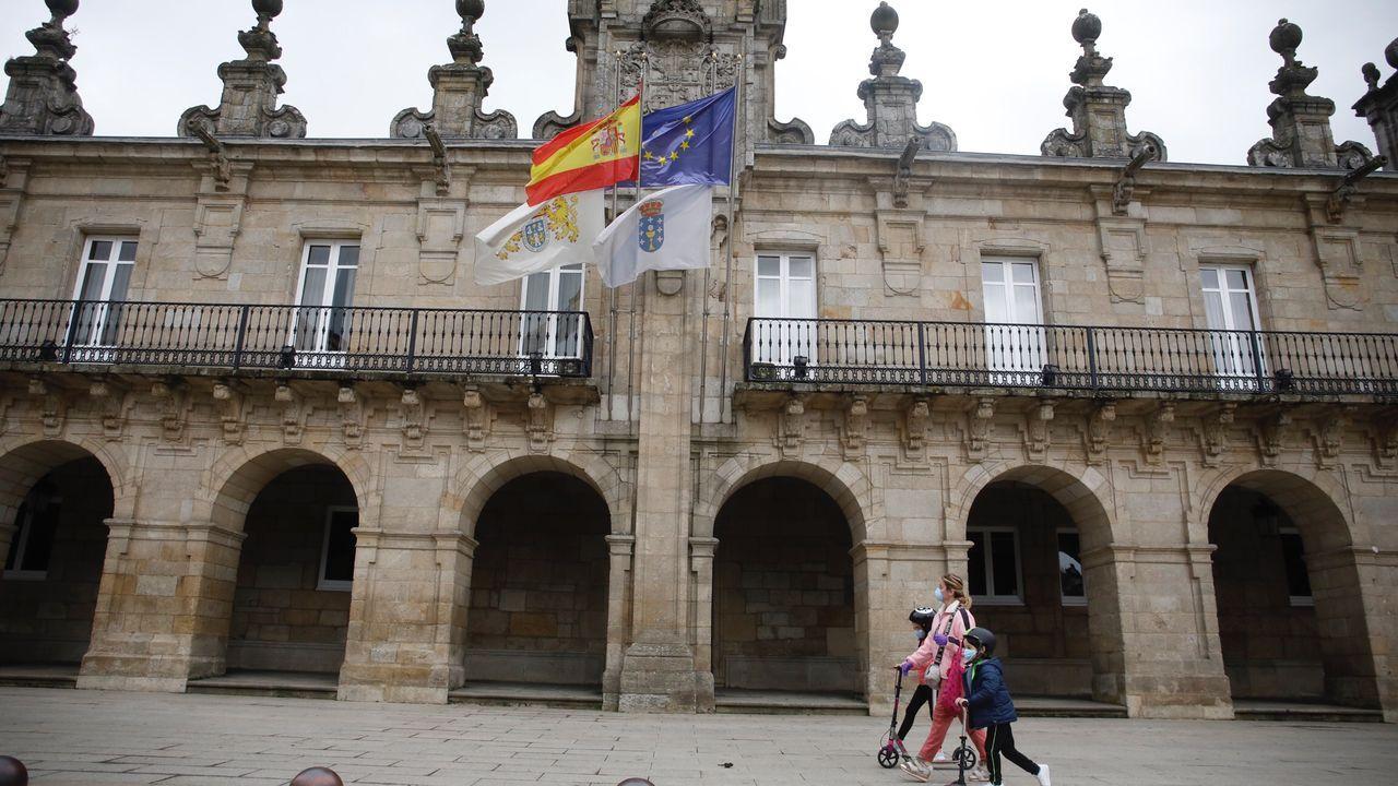 Las banderas de Galicia y de Lugo están a media asta en la Casa Consistorial