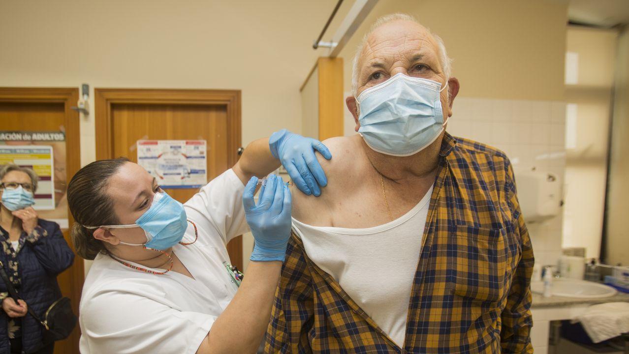 Campaña de vacunación contra la gripe en Laxe