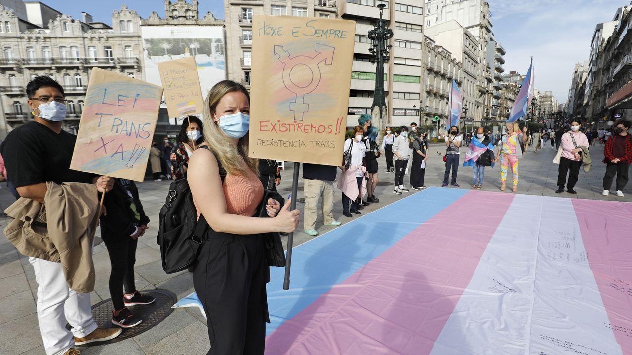 Concentración de apoyo al colectivo trans en Vigo. Transexual.