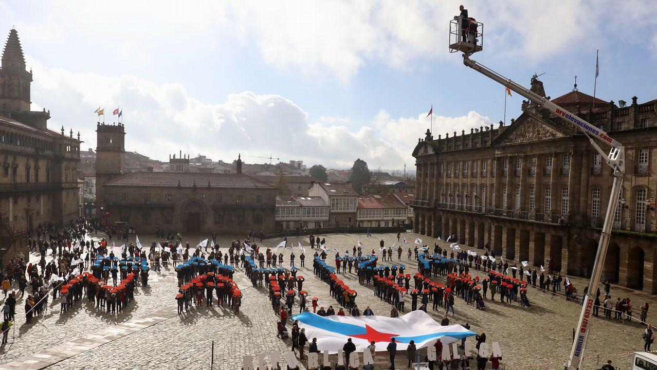 Acto do BNG na praza do Obradoiro co gallo do 40º aniversario da Constitución.Cristina Coto
