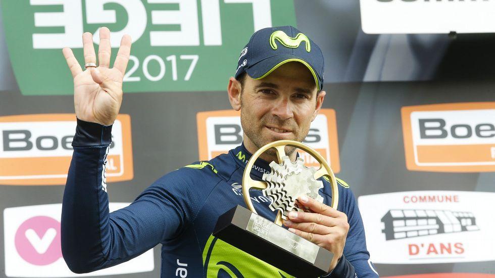 Fuglsang da la sorpesa.El ciclista gijonense Iván García Cortina, durante la novena etapa de la Vuelta Ciclista a España
