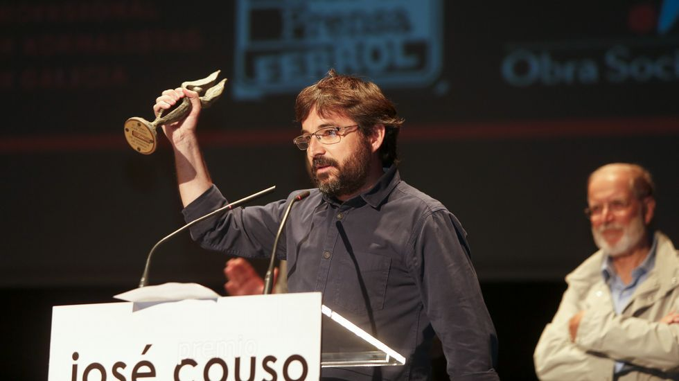 Encontronazo entre Jordi Évole y Eduardo Inda