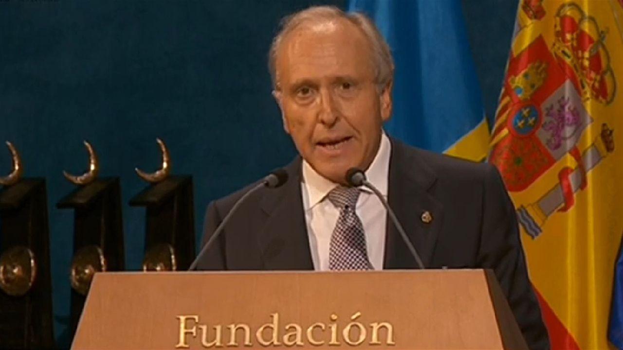 Las mejores imágenes de la ceremonia.El presidente de la Fundación Princesa de Asturias, Luis Fernández-Vega