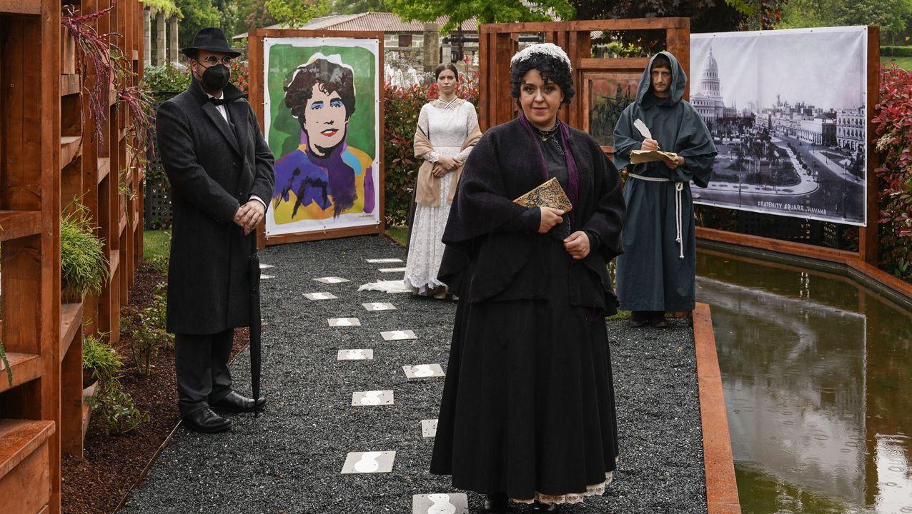 El Festival Internacional de Xardíns abrió sus puertas.Manifestación polo Día das Letras Galegas organizada por Queremos Galego en Santiago, en el 2019